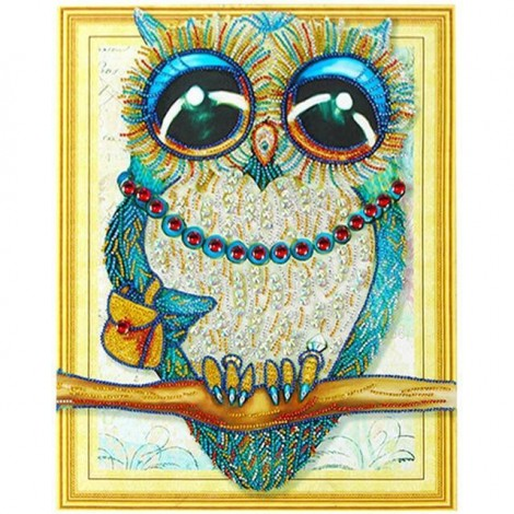 Owls | 5D Diamond Painting | Partial | Special-shaped Diamond