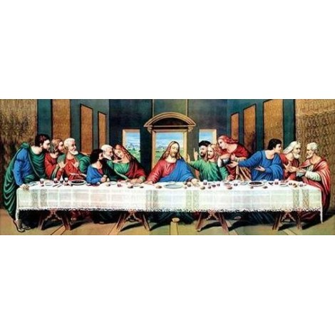 Last Supper | 5D Diamond Painting | Partial | Round & Special-shaped Diamonds