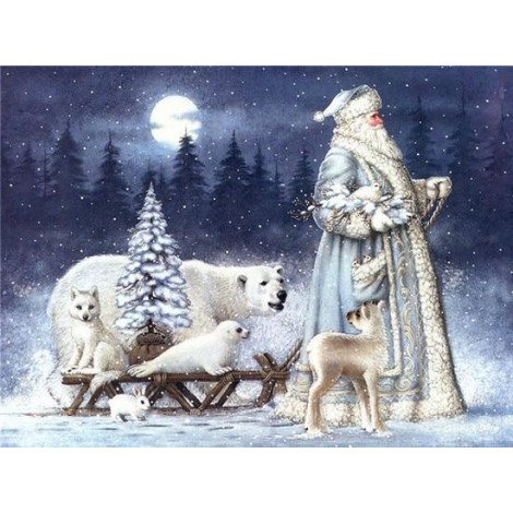 Santa Claus | 5D Diamond Painting | Round Diamond