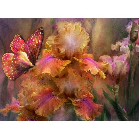 Flowers & Butterflies | 5D Diamond Painting | Square/Round Drill