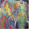 Elephant | 5D Diamond Painting | Partial | Special-Shaped Diamond