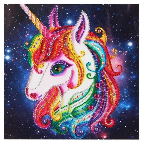 Unicorn | 5D Diamond Painting | Partial | Special-shaped Diamond
