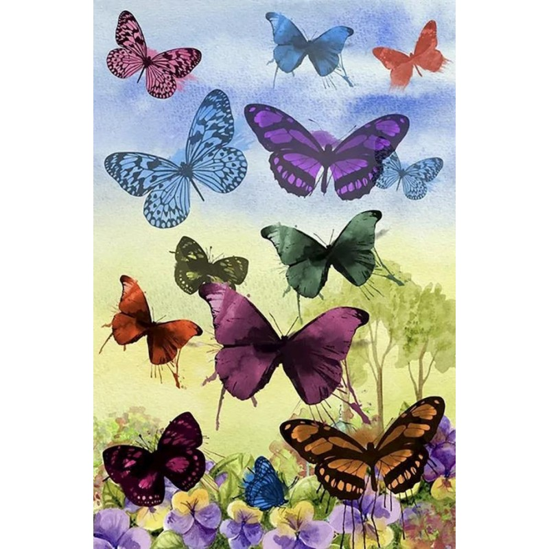 Colored Butterflies ...