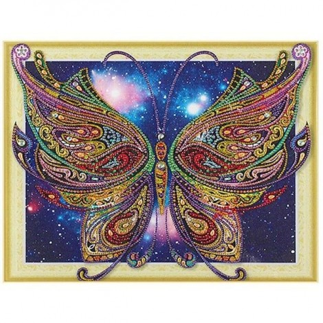 Butterfly | 5D Diamond Painting | Partial | Special-shaped Diamond