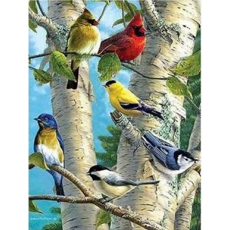 Birds | 5D Diamond Painting | Round Diamond