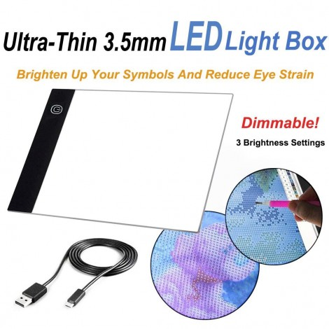 Ultra-Thin Dimmable 3.5mm A4/A5 LED Light Box | USB Powered