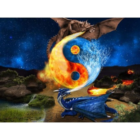 Dragons | 5D Diamond Painting | Square Diamond