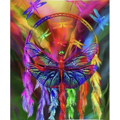Rainbow Dragonfly Diamond Painting Kit